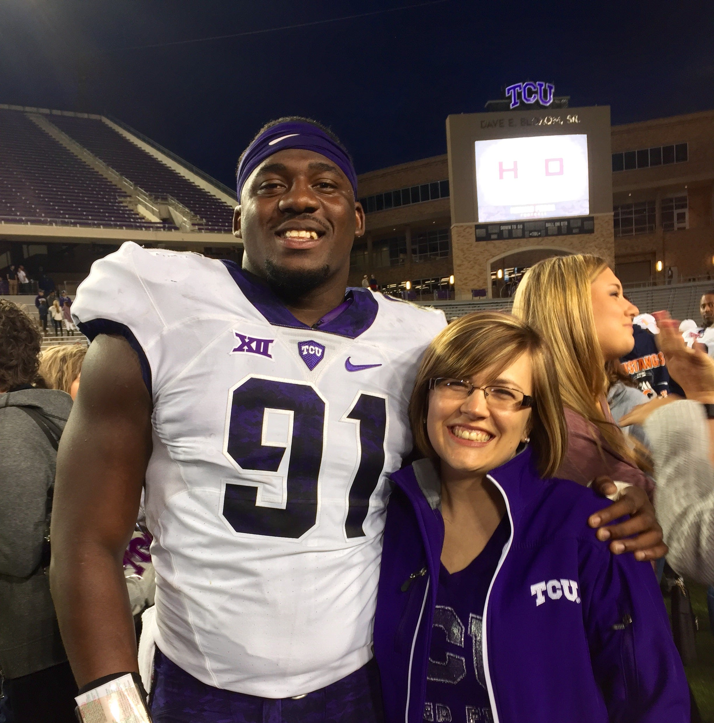 L.J. Collier's rise from TCU to NFL Draft pick includes special bond with Munday teacher