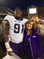 L.J. Collier and Christel Shahan were close while the TCU standout was at Munday, but their relationship strengthened after his mother died.