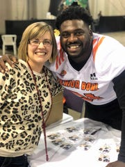 Christel Shahan went to nearly every TCU home game, a couple bowl games and the 2019 Senior Bowl in Mobile, Alabama to support L.J. Collier.