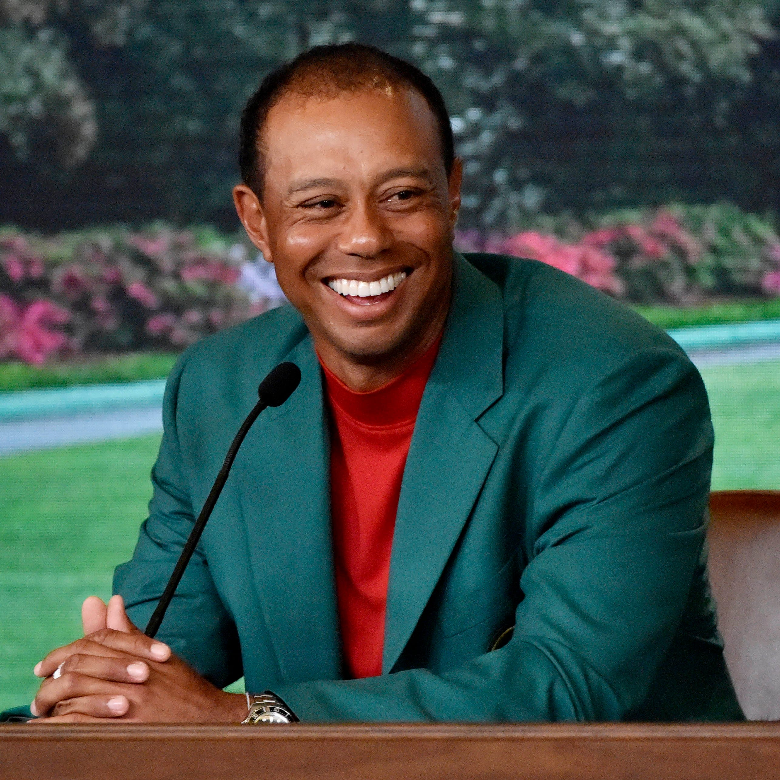 Tiger Woods shows up to his Florida restaurant rocking Masters green jacket