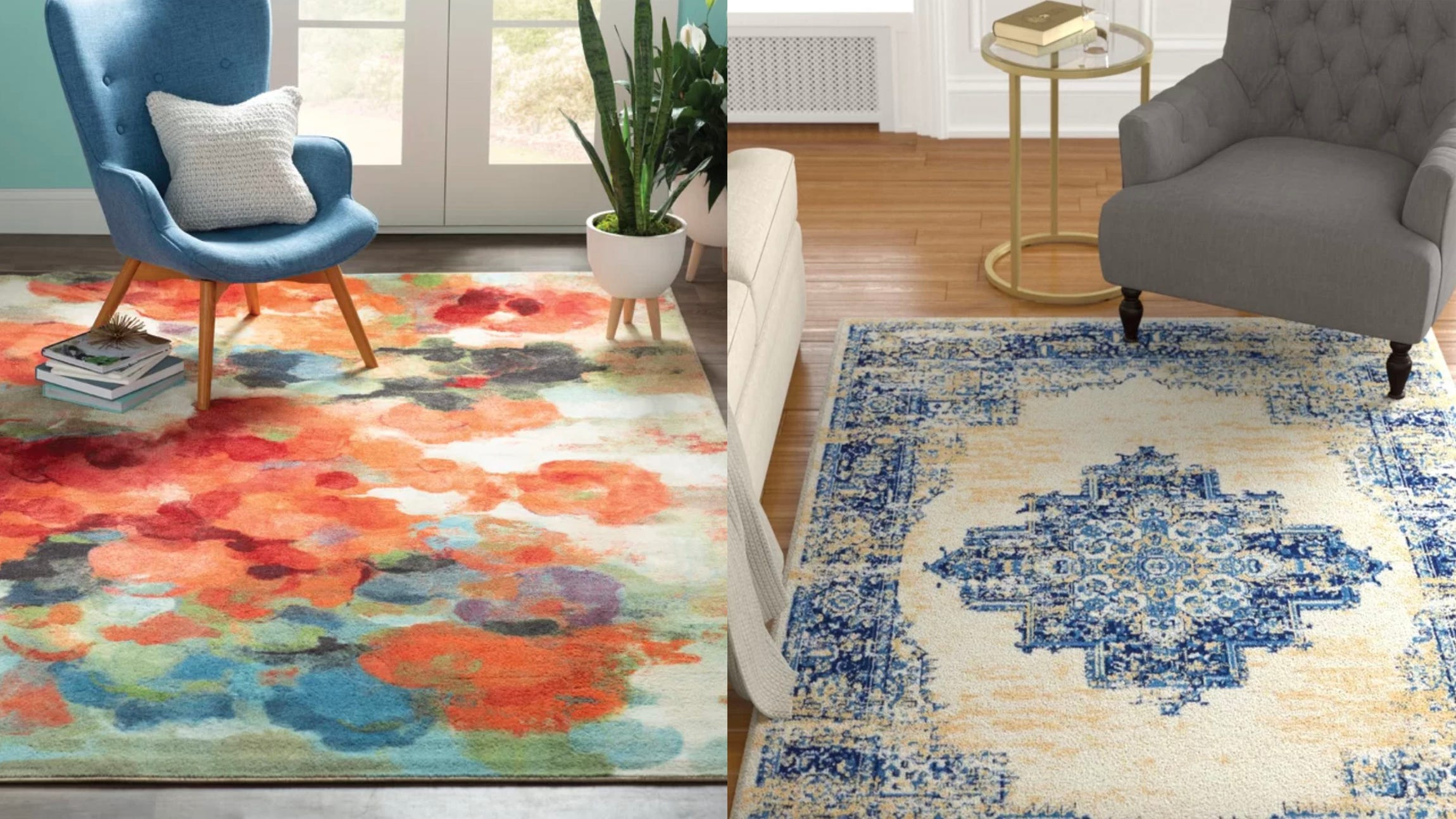 You can find loads of rugs like these are great prices in this sale.