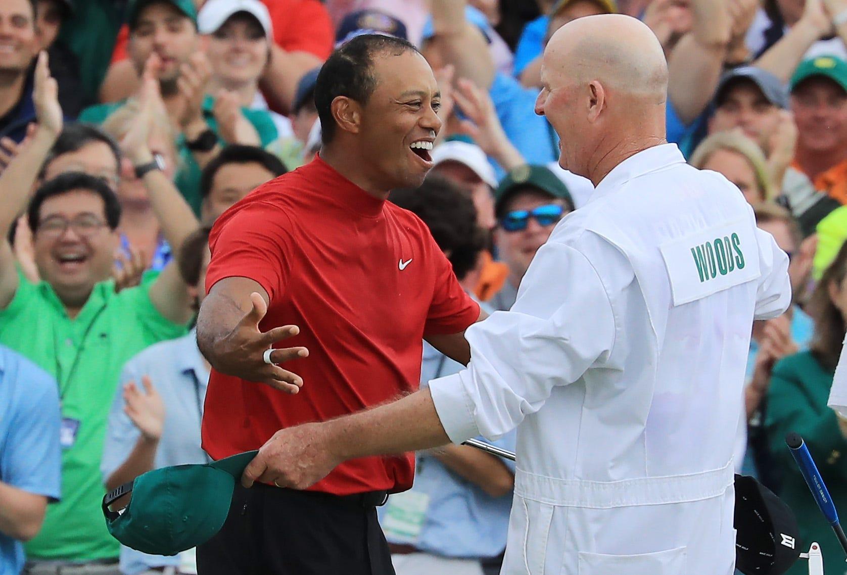 Tiger Woods&apos caddie Joe LaCava details aftermath of Masters victory
