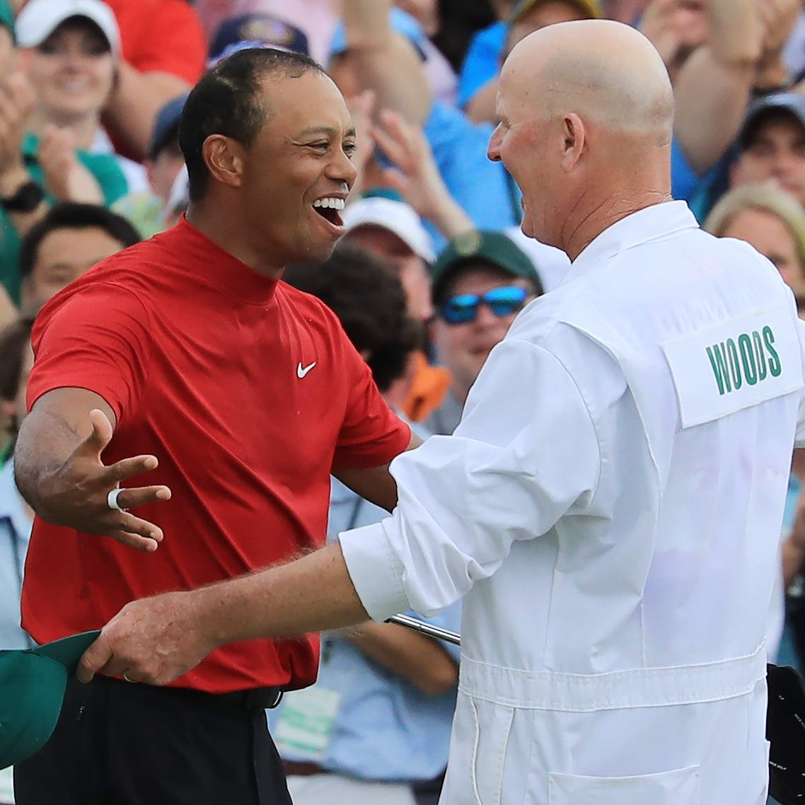 Tiger Woods' caddie, Joe LaCava, details aftermath of Masters victory