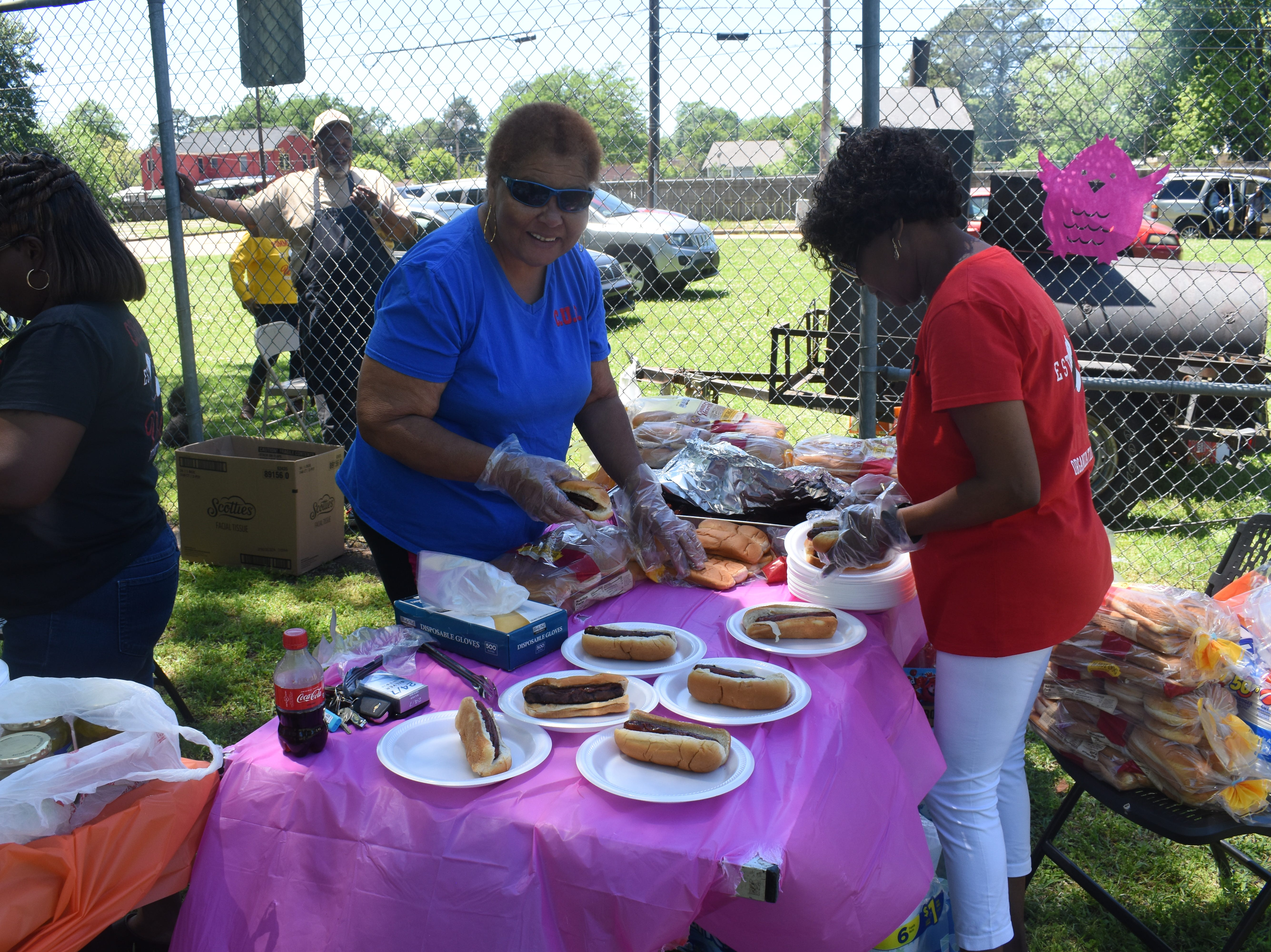 The Community Unity Organization and the Community Revival Organization, which is made up of Philadelphia Baptist Church, Mt. Zion Missionary Baptist Church, First St. Mark Baptist Church and Greater Third Evergreen Baptist Church, held an Easter egg hunt and luncheon at Helen Black Park Saturday, April 20, 2019. The Rev. Roger L. Green, pastor of Mt. Zion, said this was the first event the organizations hosted for the people in the community to come together and for the children to enjoy an Easter egg hunt.