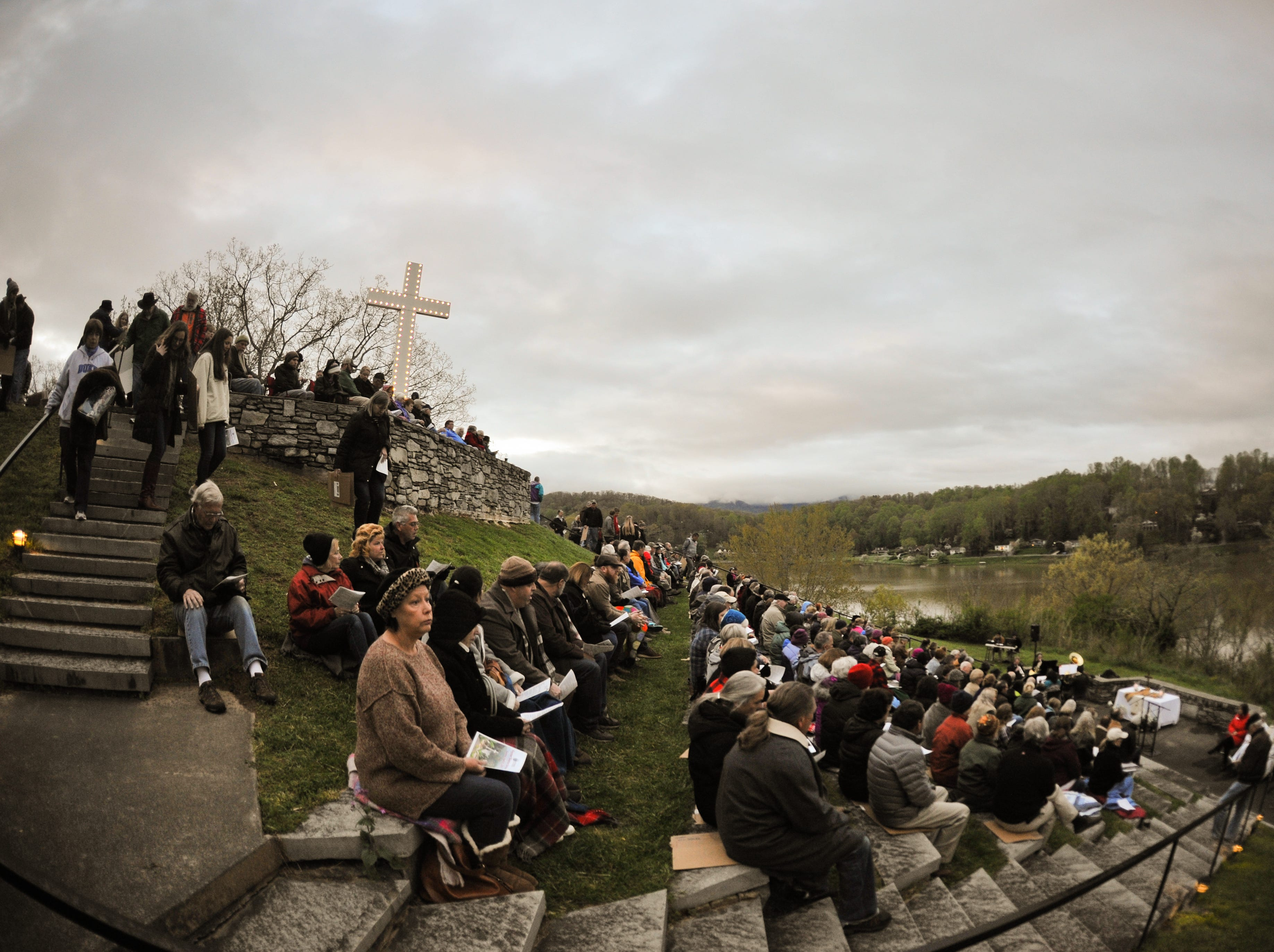 Scenes from the Easter Sunrise Service at the Lake Junaluska Conference and Retreat Center in Haywood County on April 21, 2019.