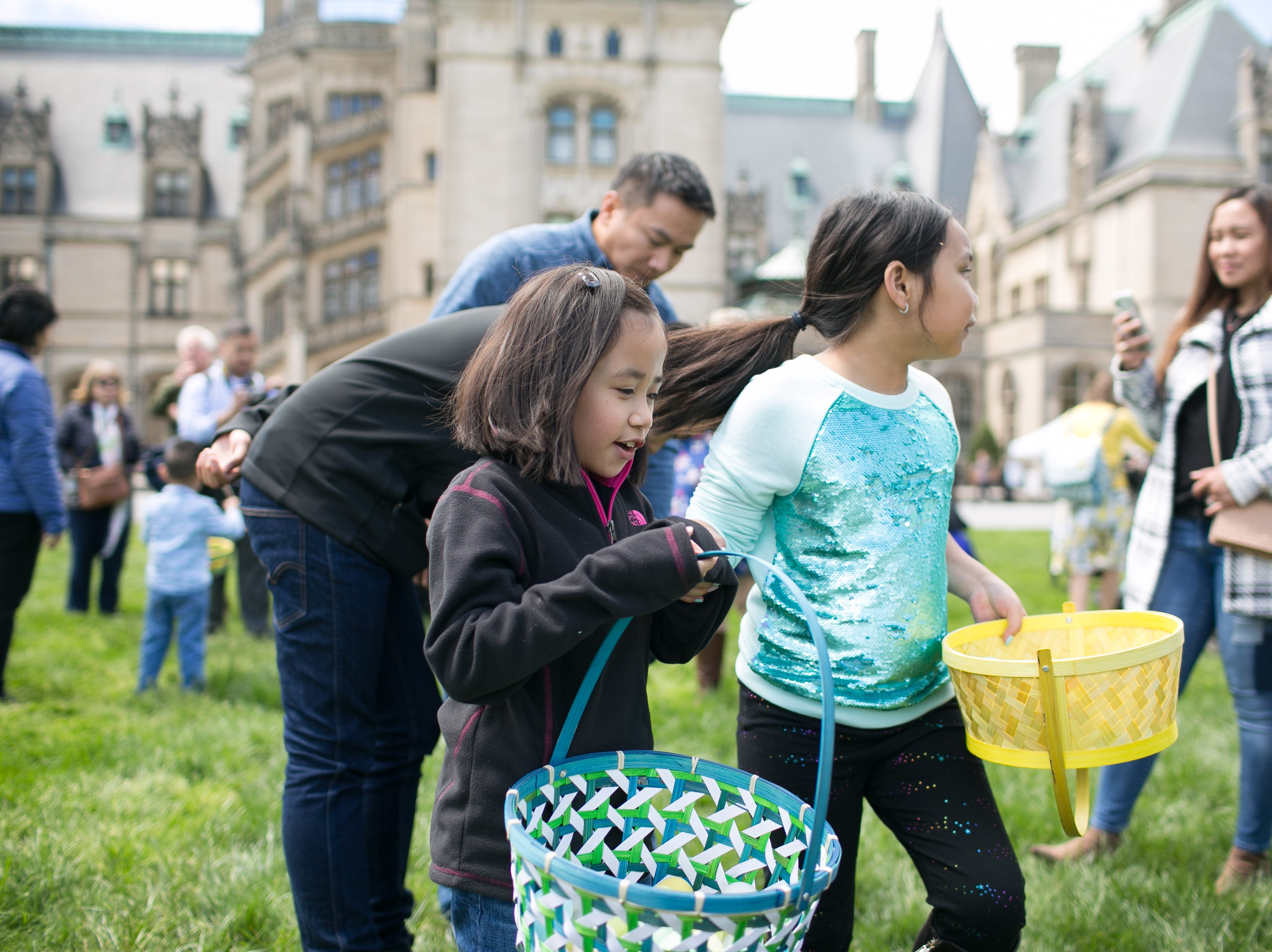 Scenes from Biltmore Estate's annual Easter egg hunt on April 21, 2019. The hunt is one of the Southeast's largest, with hundreds of children ages 2–9.