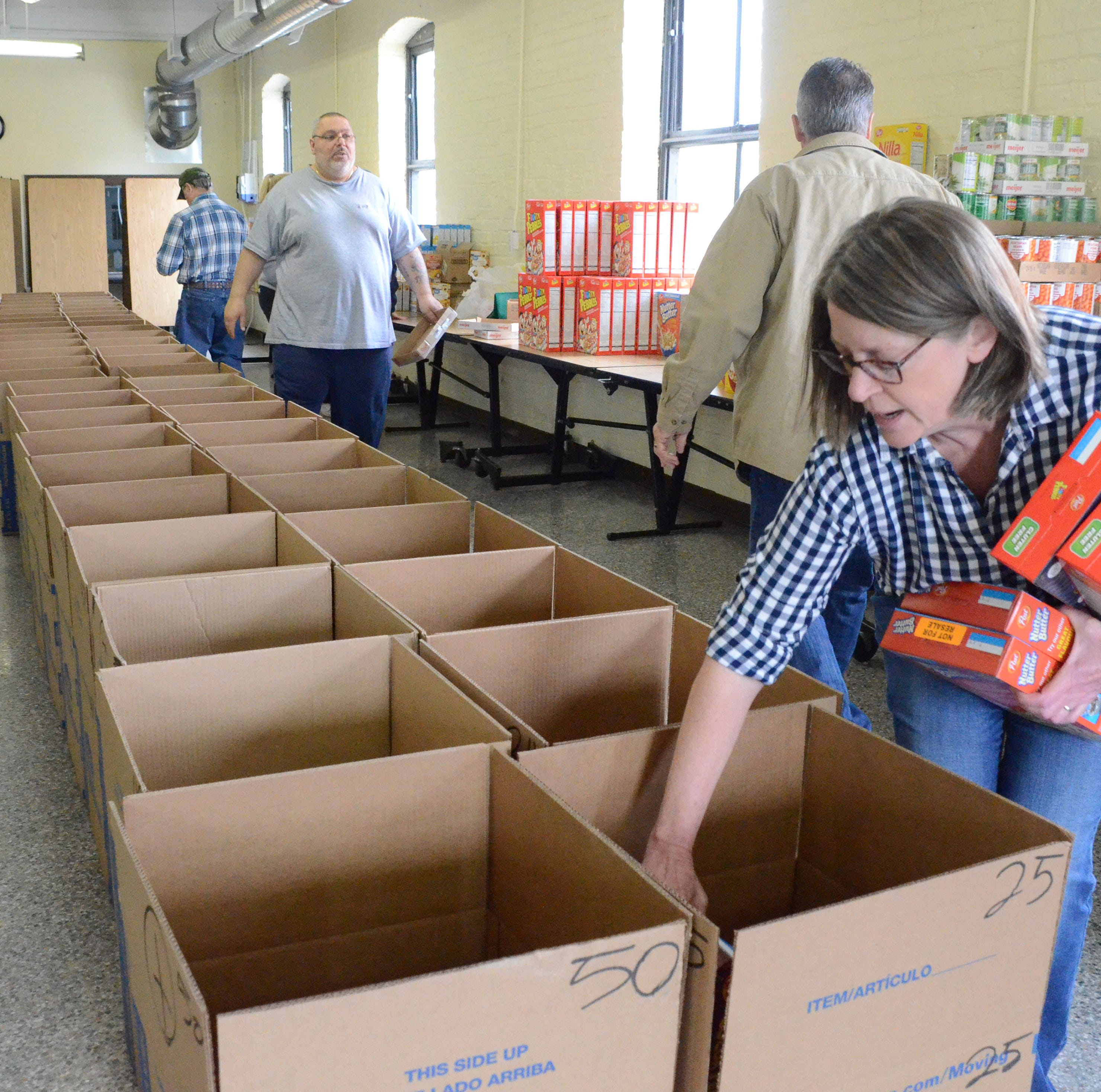 Easter boxes of food and candy distributed to Battle Creek families