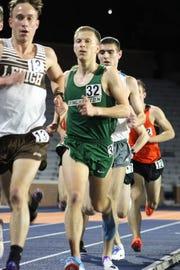 Binghamton University's Dan Schaffer runs in the 5,000 meters April 13 in the Bucknell Invitational. Schaffer finished fifth in a school record 14:11.75.