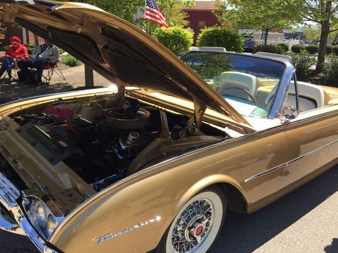This 1961 Ford Thunderbird convertible was on display at a recent Sharonville Classic Car Show.