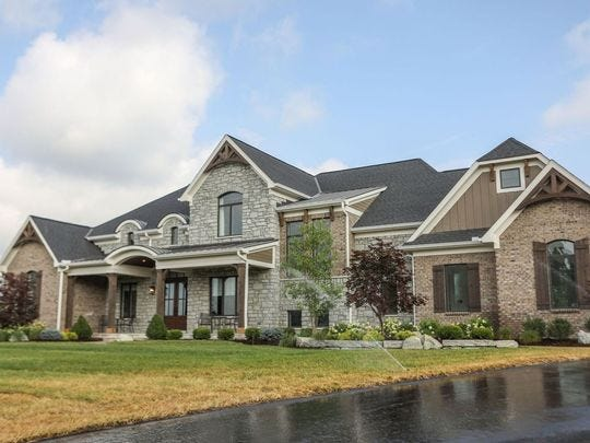 The Stonewood from Frazier Homes was one of 10 homes featured in the 2018 Homearama in Union Township.