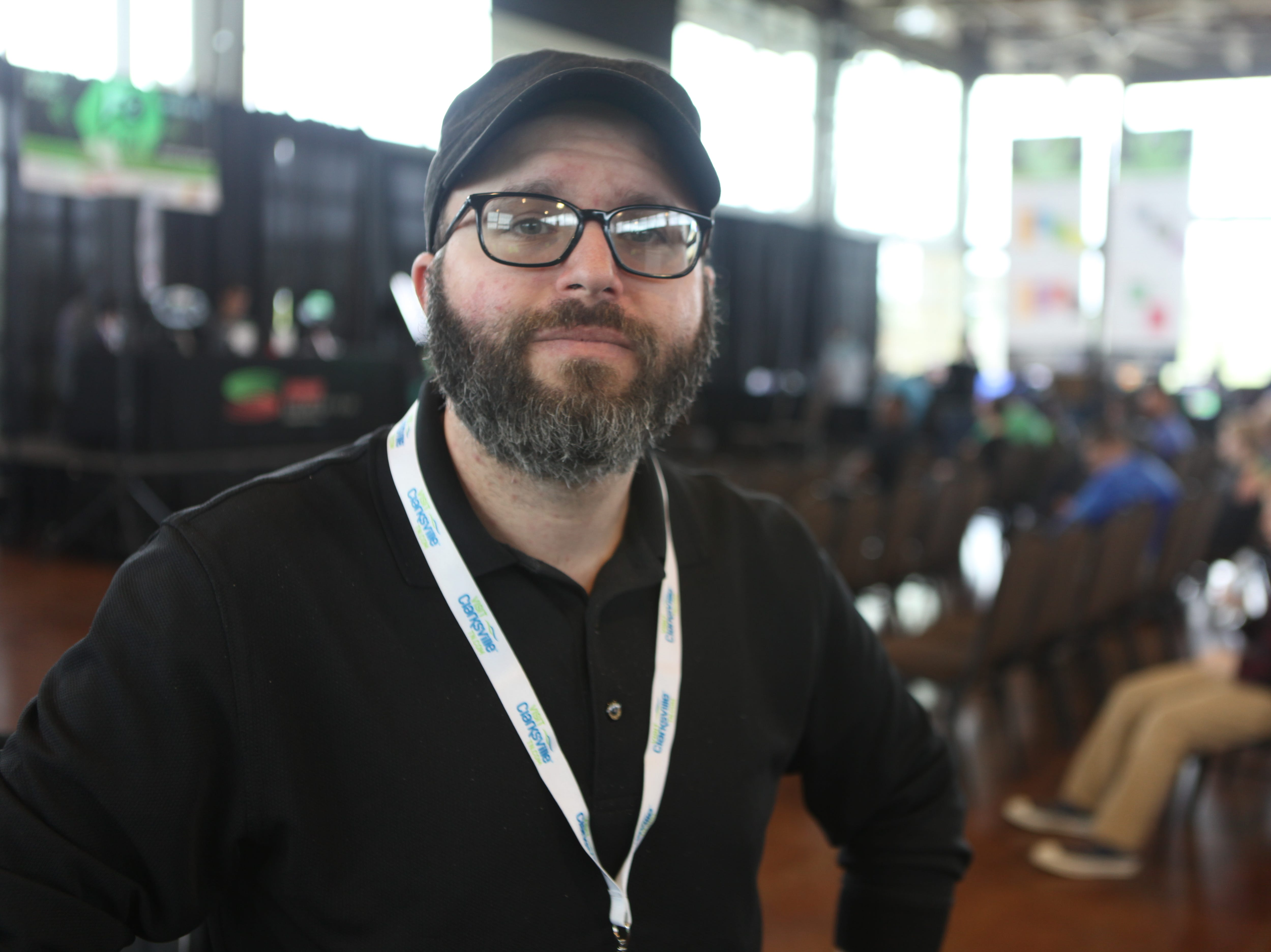 Matt Fischer, broadcasting instructor at West Creek High School, at the second annual F2 Con Gaming Tournament on Saturday, April 20, 2019.