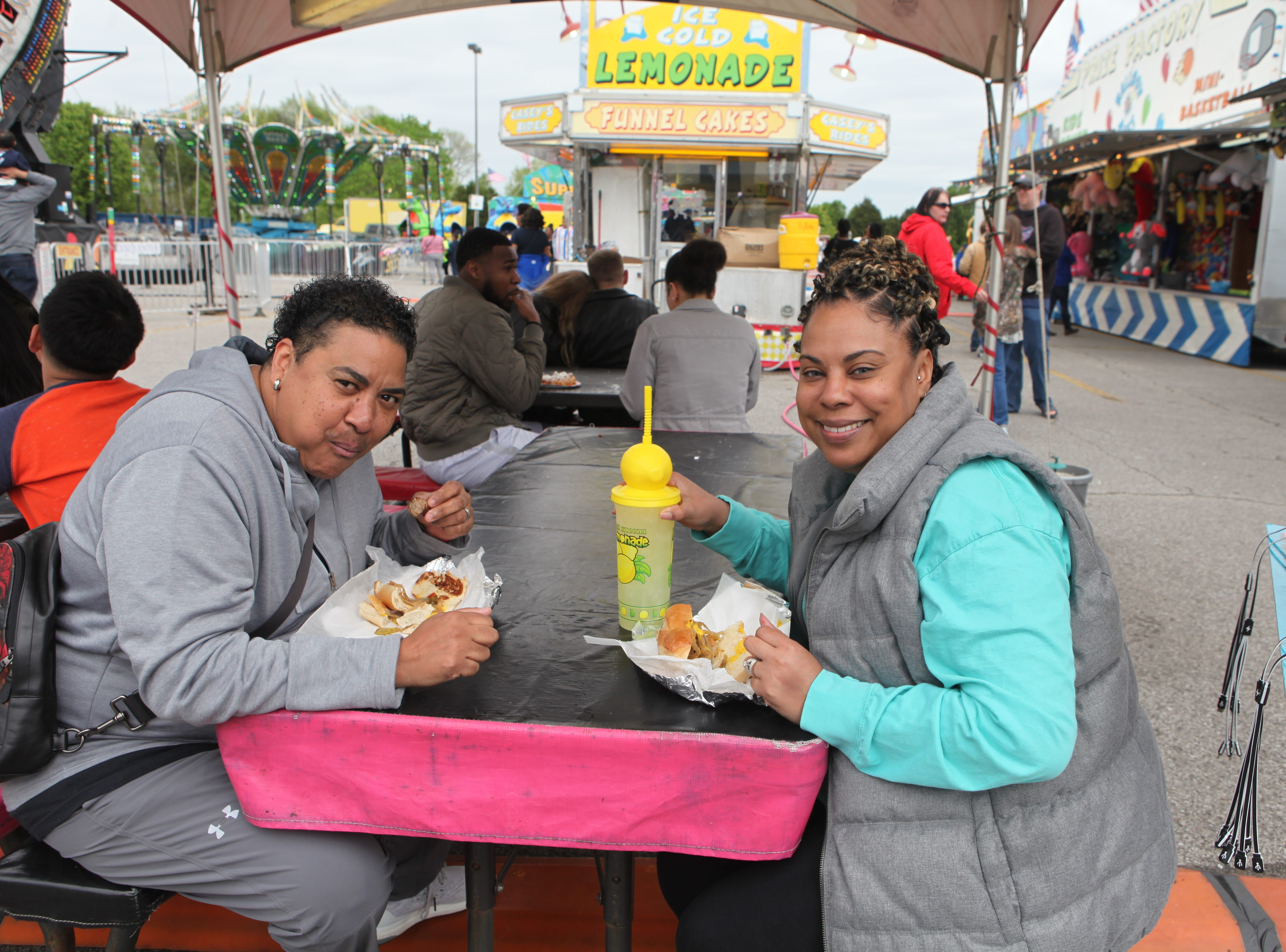 Emma and Nancy Grau at Governor's Square Mall's Spring Carnival on Saturday, April 20, 2019.