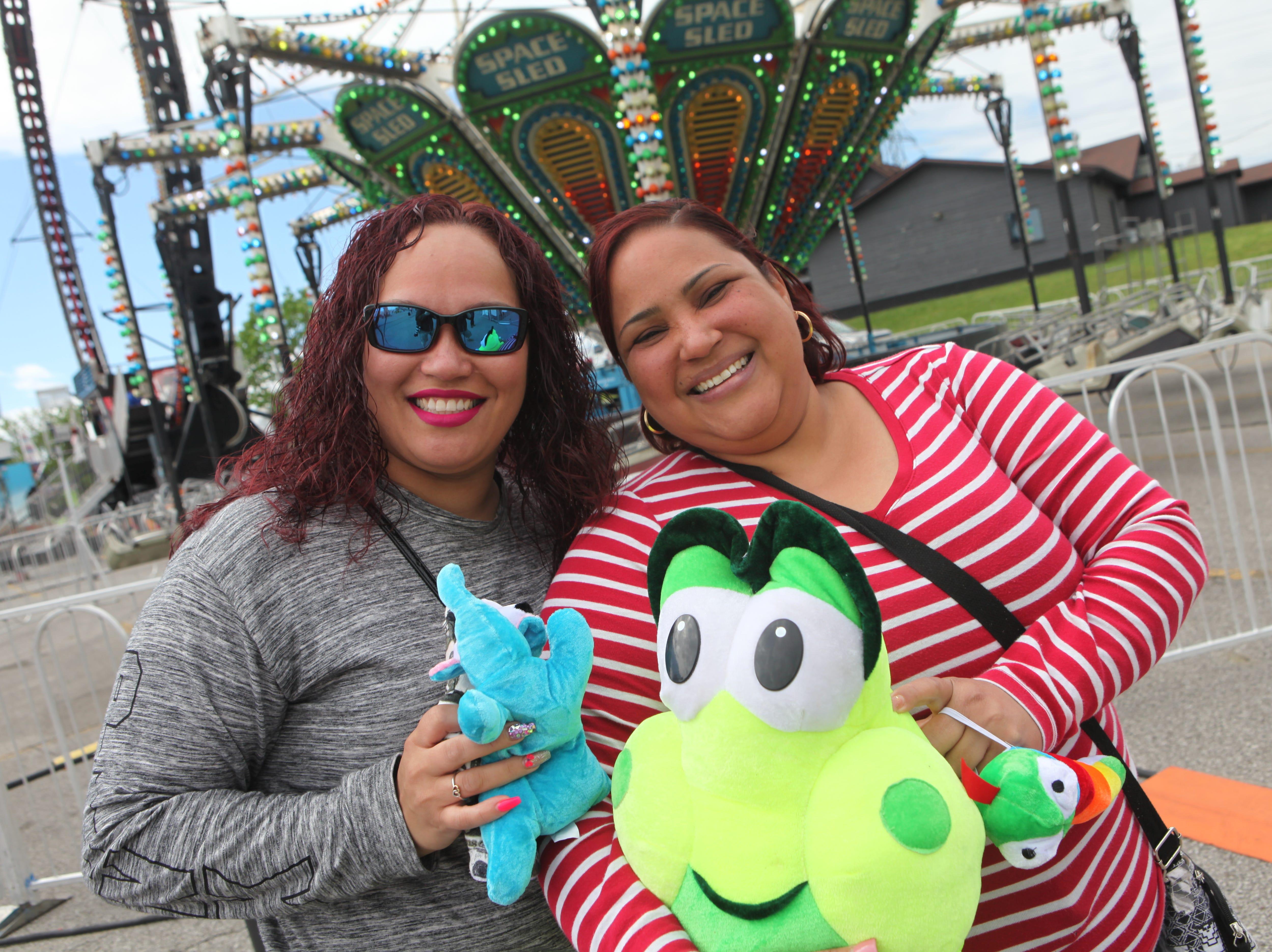 Jeslie Gonzalez and Evalisse Perez at Governor's Square Mall's Spring Carnival on Saturday, April 20, 2019.
