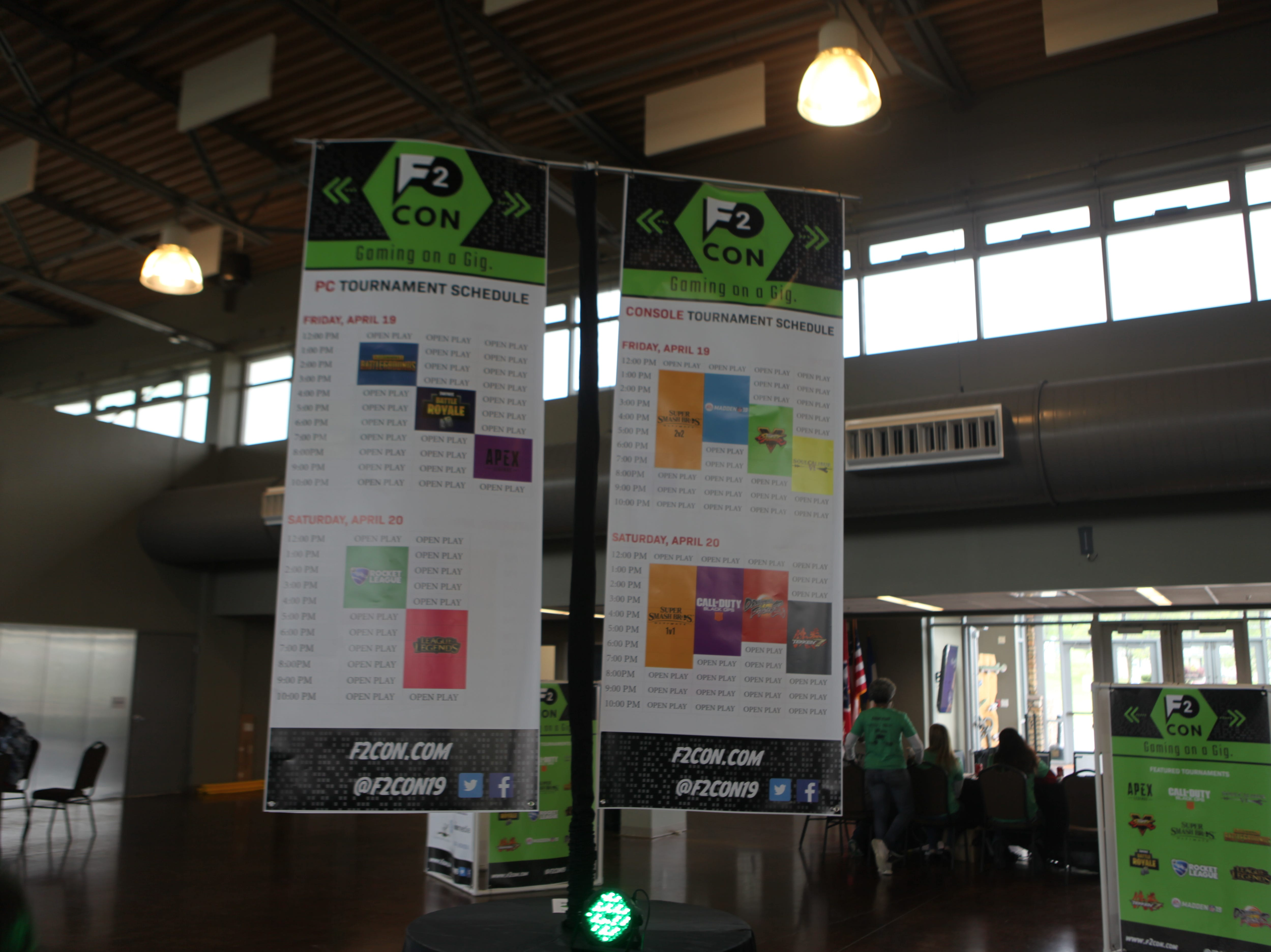 Visit Clarksville, CDE Lightband and Clarksville Parks and Recreation hosted the second annual F2 Con Gaming Tournament at the Wilma Rudolph Event Center April 19-20, 2019.