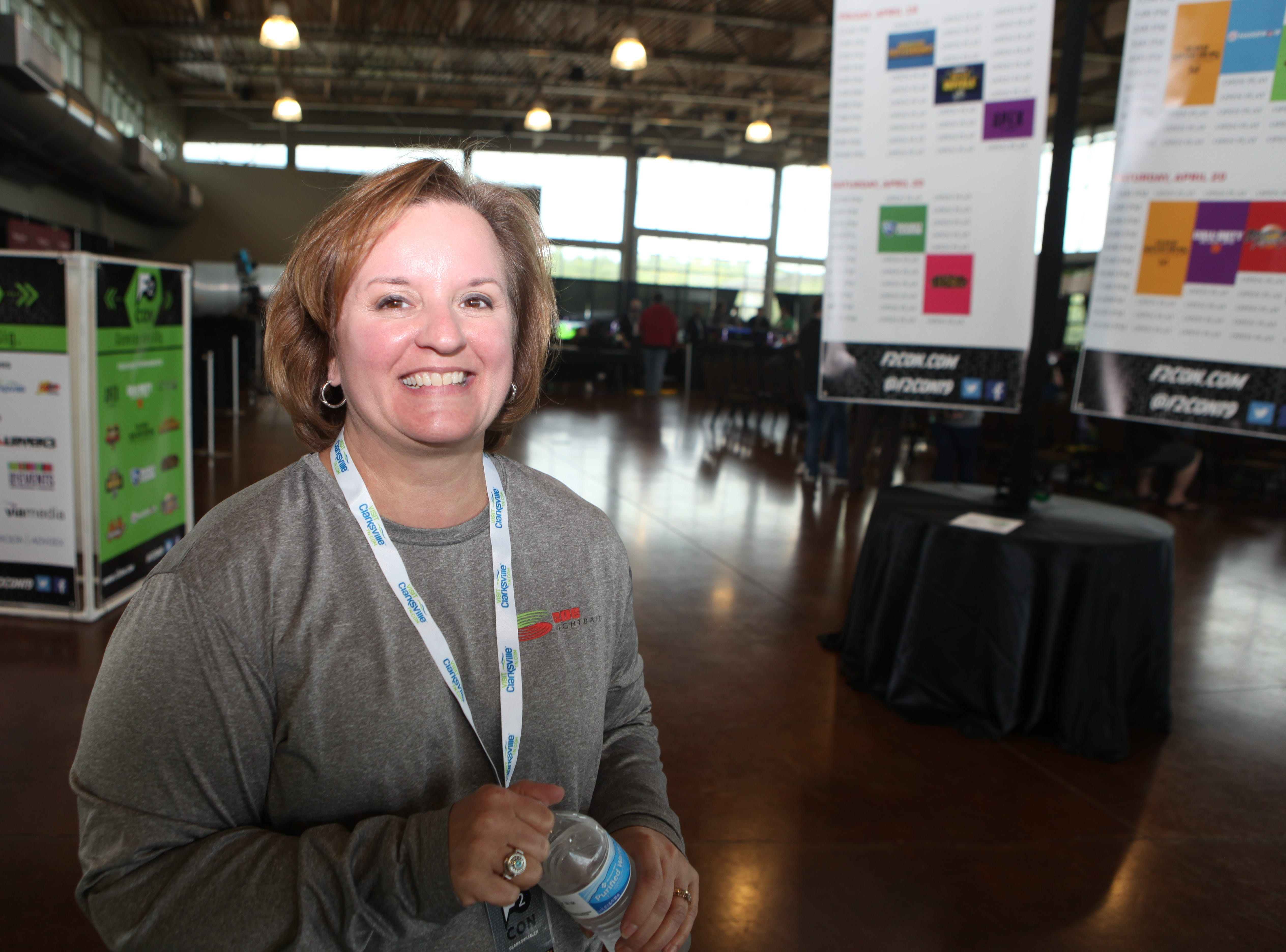 CDE Lightband's Christy Batts at the second annual F2 Con Gaming Tournament on Saturday, April 20, 2019.