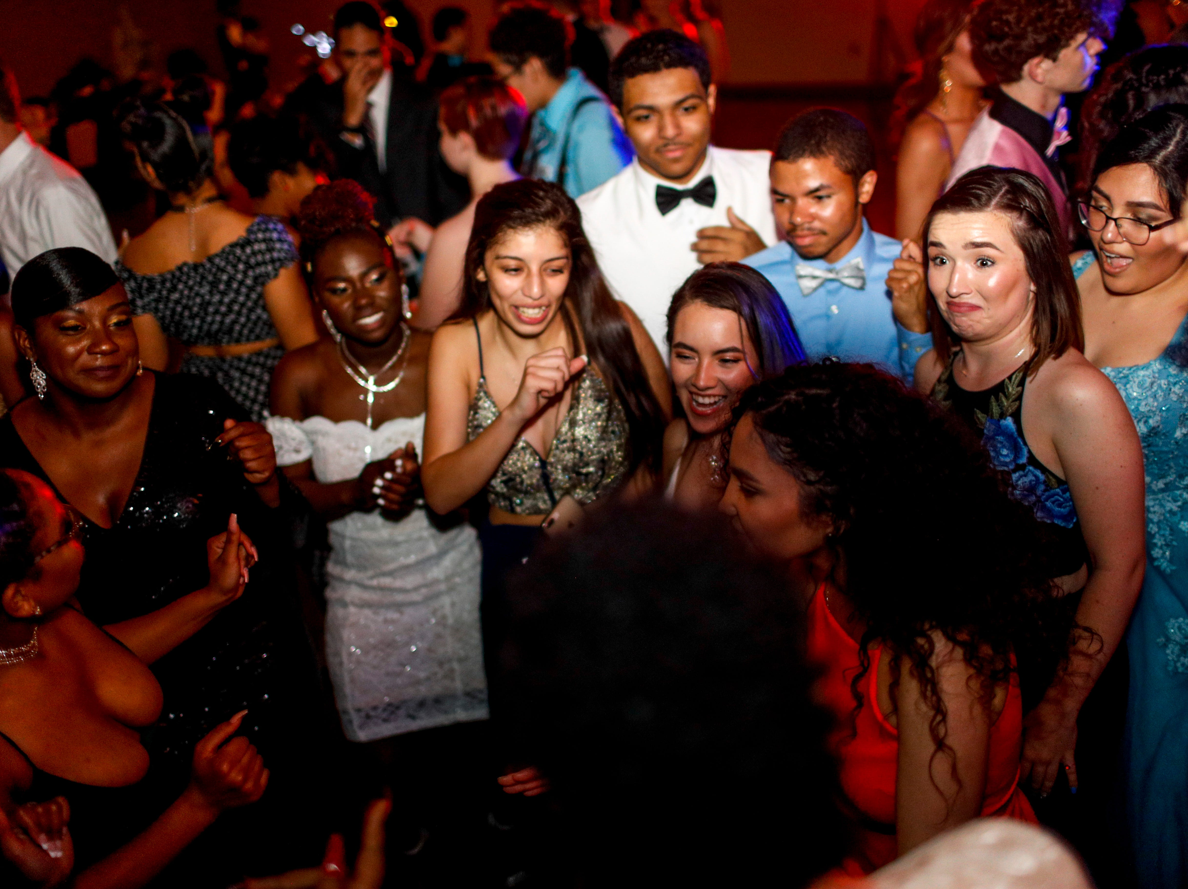 """Nearly 180 students celebrated the night away at Fort Campbell High School's 2019 prom themed """"A Night in Athens"""" at Valor Hall in Oak Grove, KY., on Saturday, April 20, 2019."""