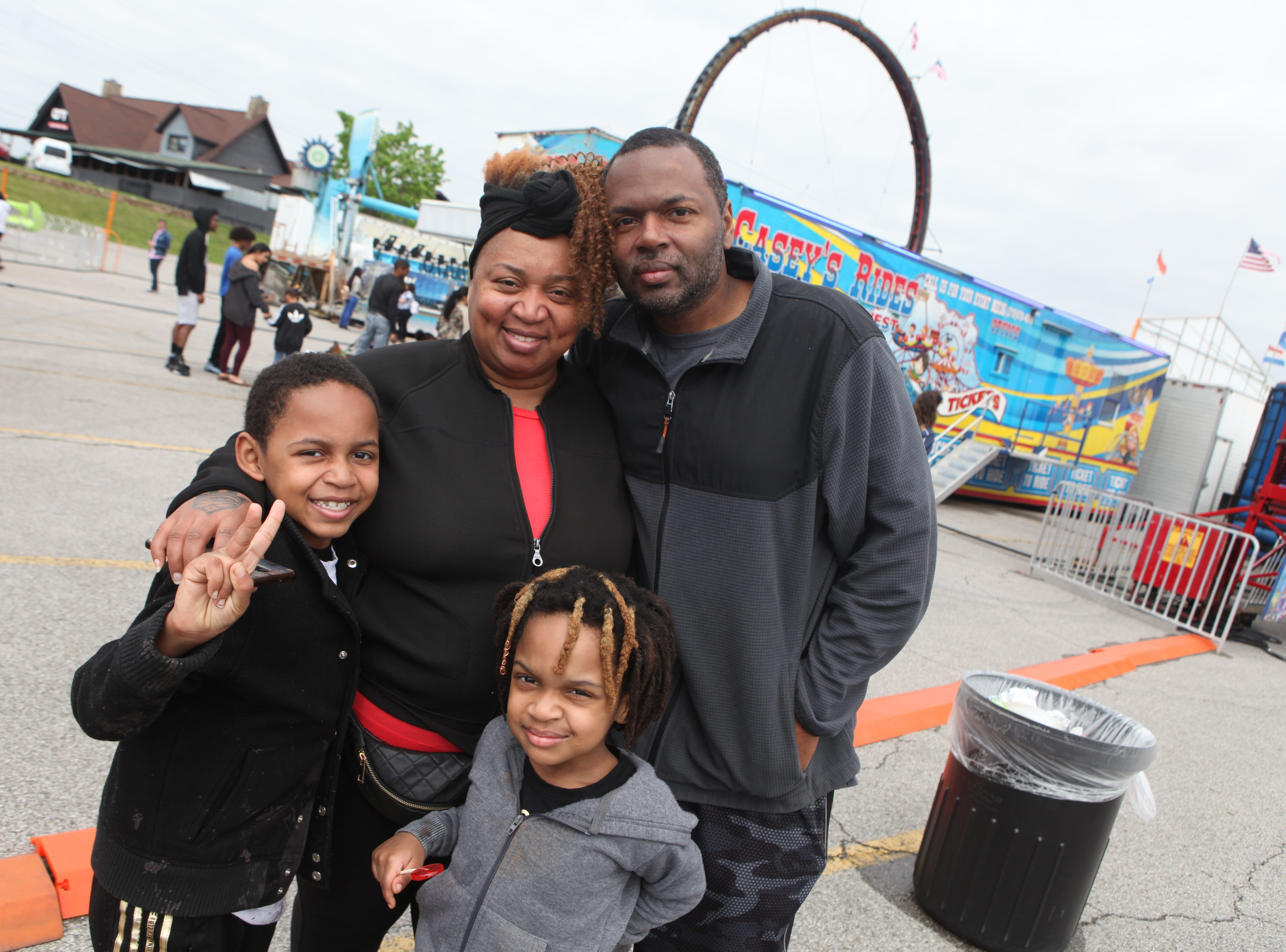 Quintereon, Jeannetta, Quinvinity, and Quinn Lewis at Governor's Square Mall's Spring Carnival on Saturday, April 20, 2019.