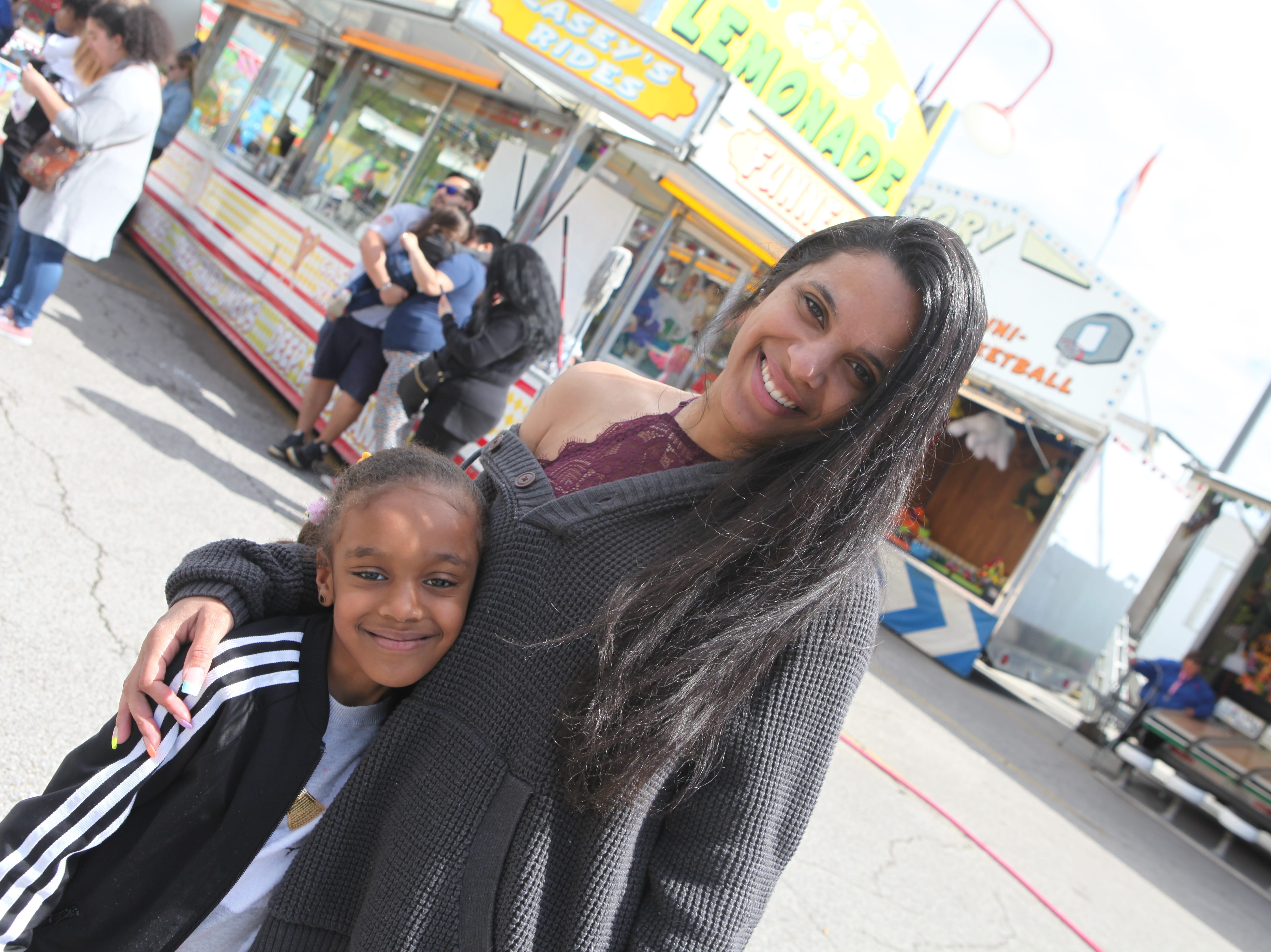 Valentina Gatling and Crystal Macklin at Governor's Square Mall's Spring Carnival on Saturday, April 20, 2019.