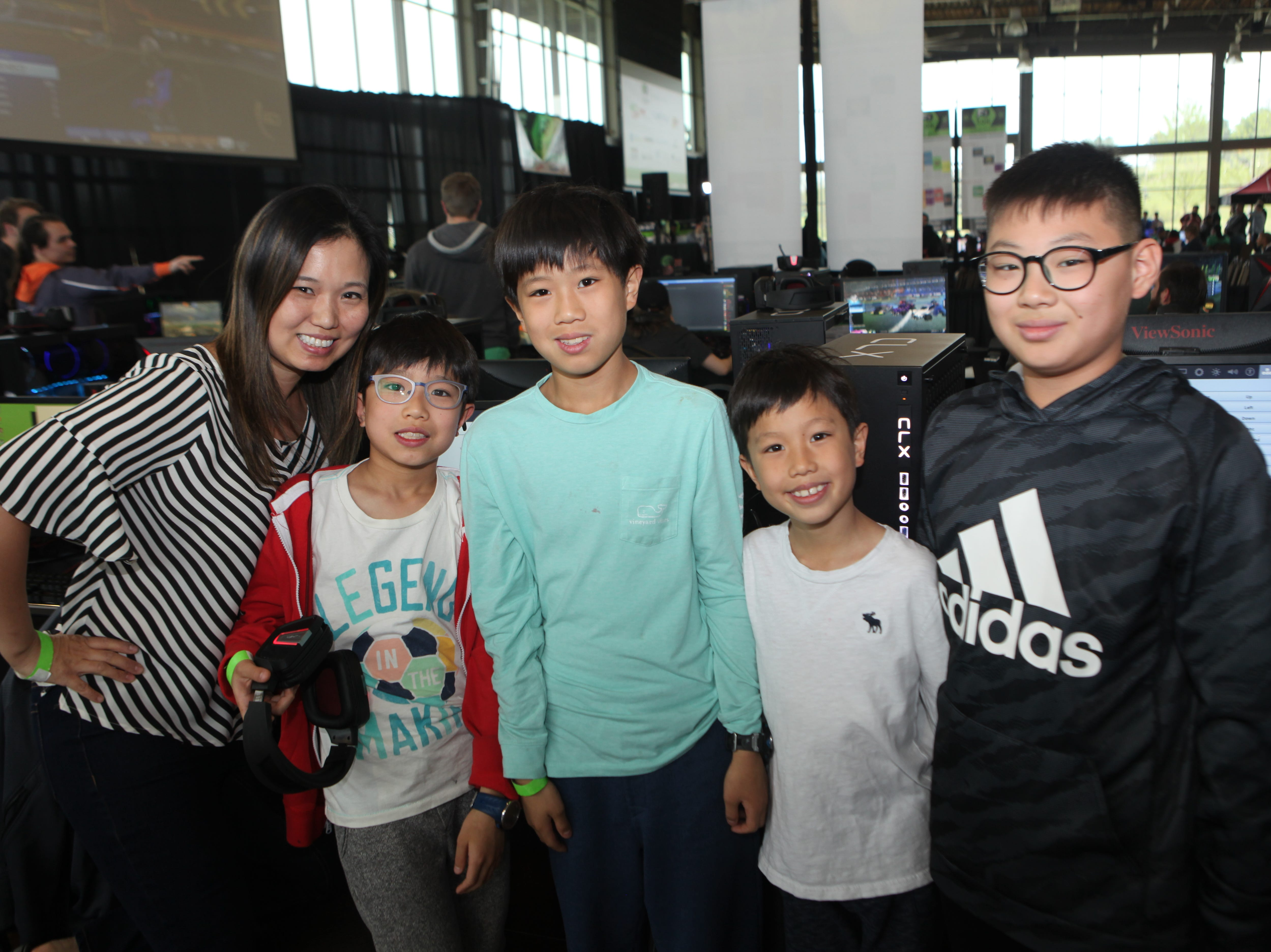 Grace Kee, Jason, Sean and Christian Moon and Eugene Joo at the second annual F2 Con Gaming Tournament on Saturday, April 20, 2019.
