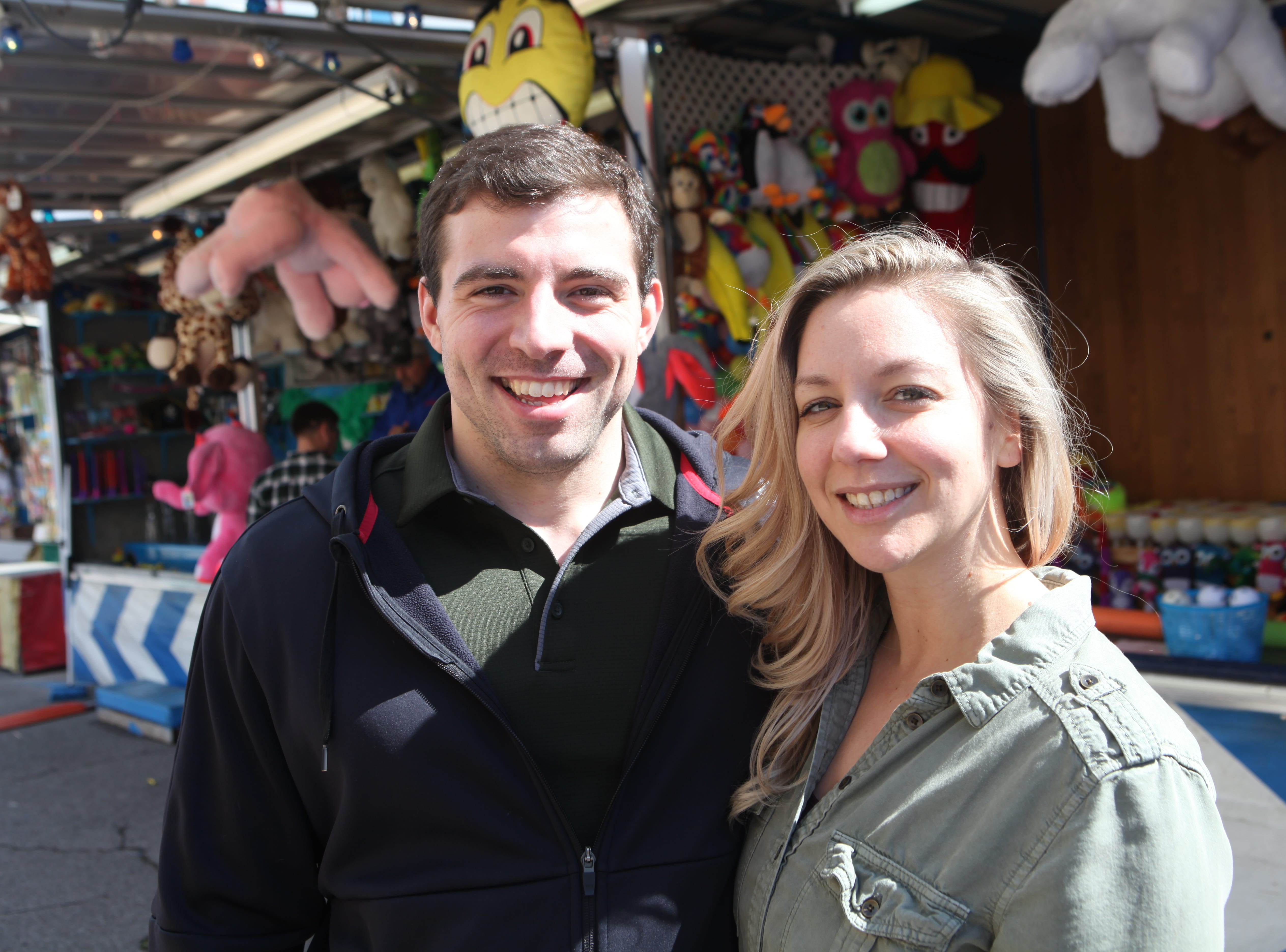 Casey and Chris Werner at Governor's Square Mall's Spring Carnival on Saturday, April 20, 2019.