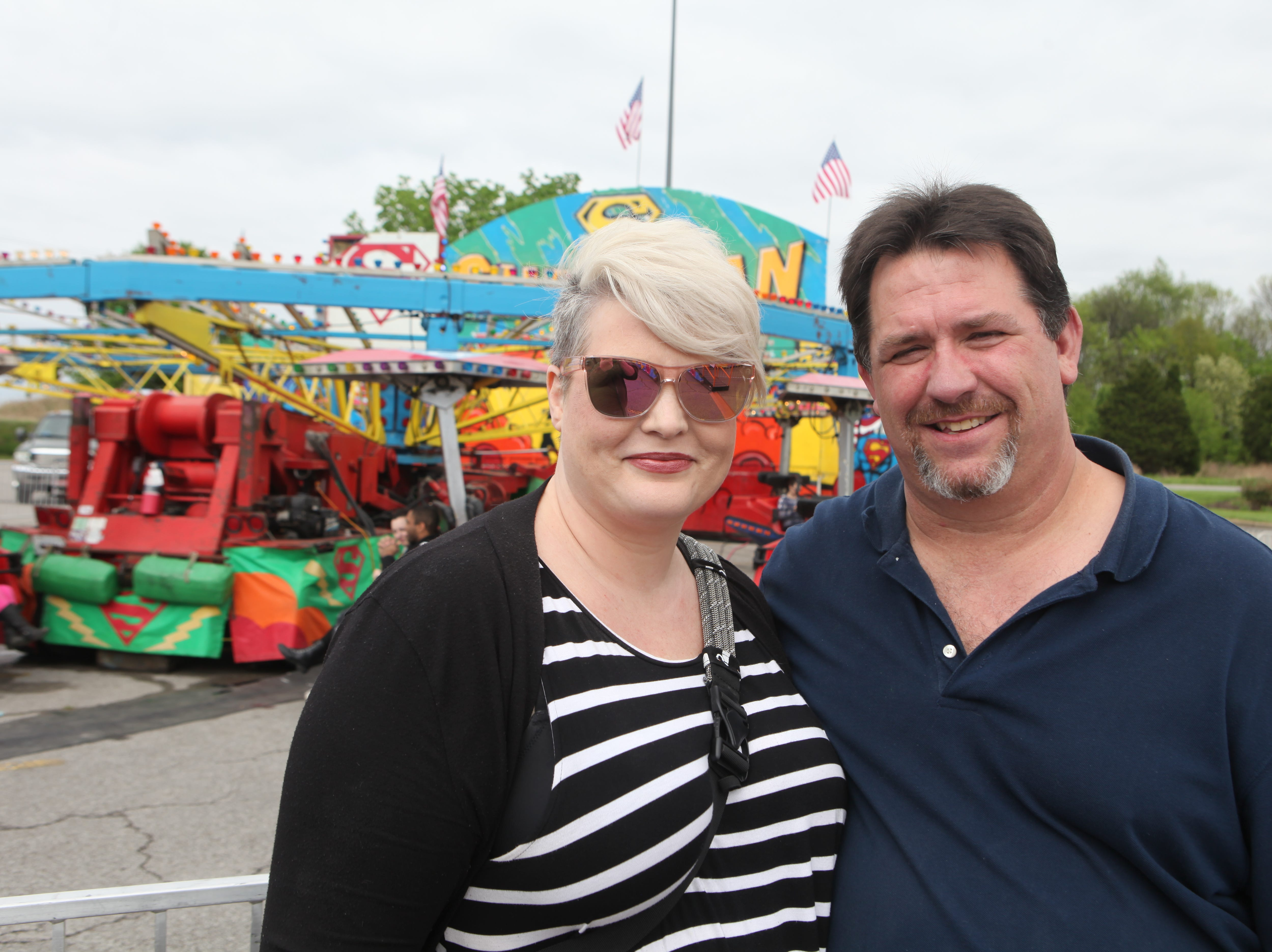 Jenny and Tony Jenkins at Governor's Square Mall's Spring Carnival on Saturday, April 20, 2019.