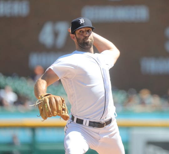 Daniel Norris pitches against the White Sox during the fifth inning Sunday at Comerica Park.