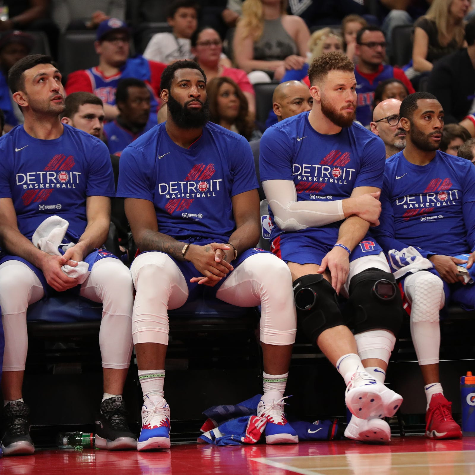Blake Griffin gives Pistons fans reason to cheer. Andre Drummond took it away