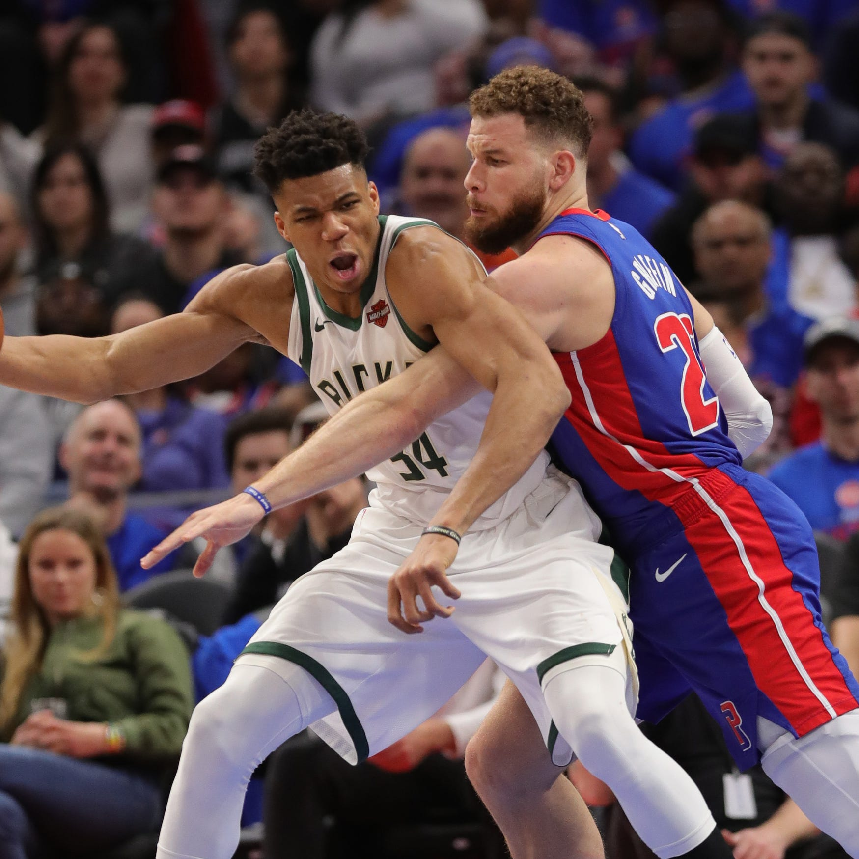 Blake Griffin gave Pistons a scare late in Game 3; he's probable for Game 4