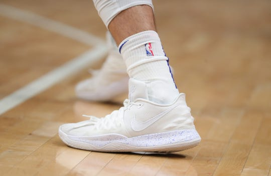 Nike basketball shoes worn by Pistons forward Blake Griffin on March 6.
