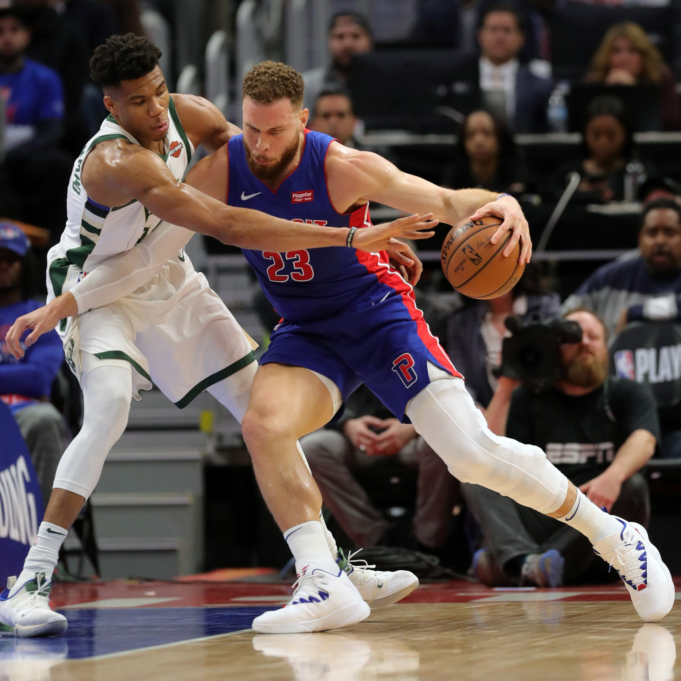 Pistons trampled by Bucks in Game 3 despite Blake Griffin's gutsy performance