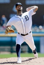 Daniel Norris of the Detroit Tigers pitches against the Chicago White Sox during the second inning at Comerica Park on April 21, 2019 in Detroit, Michigan.
