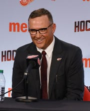 """Red Wings general manager Steve Yzerman says there's """"a lot of work to do"""" in his new job."""