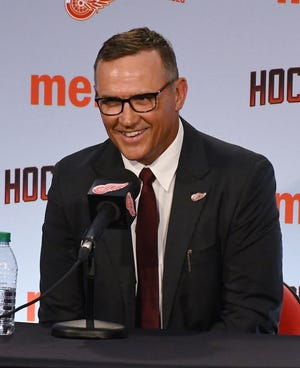"Red Wings general manager Steve Yzerman says there's ""a lot of work to do"" in his new job."