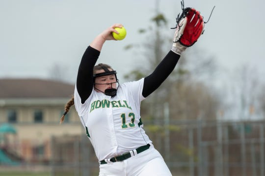 Howell's Avery Wolverton delivers a pitch in a game last week against Salem.