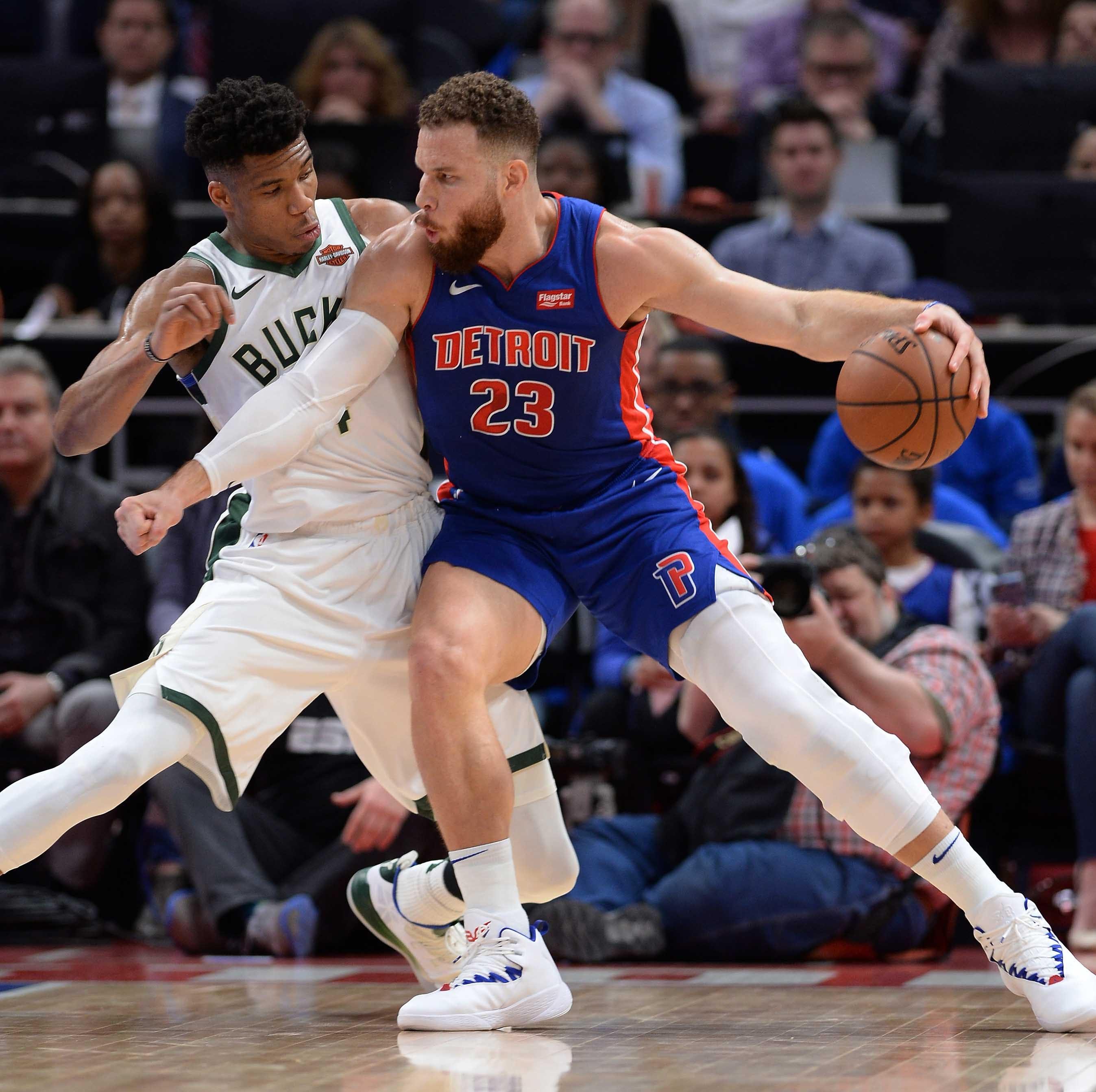 Pistons' Blake Griffin starts Game 3 vs. Bucks