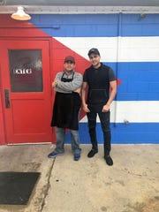 Chef Rogelio Ramirez Pera, left, and restaurant owner Yasel Garcia Perez at Latin Cuba Restaurant in Jasper.