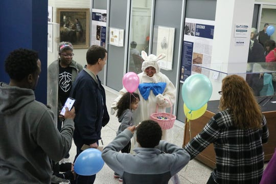 Even indoors, the Hayes Easter Egg Roll still had plenty of fun and games to offer children and the museum also was open to explore at no cost.