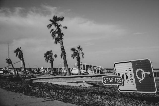 Alexa Harkness captures the devastation caused by Hurricane Michael just days after the storm in Panama City Beach, Fla.