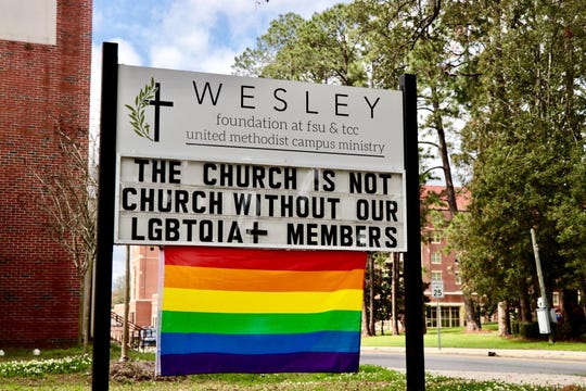 Wesley Foundation openly maintains support for their LGBTQ+ members.