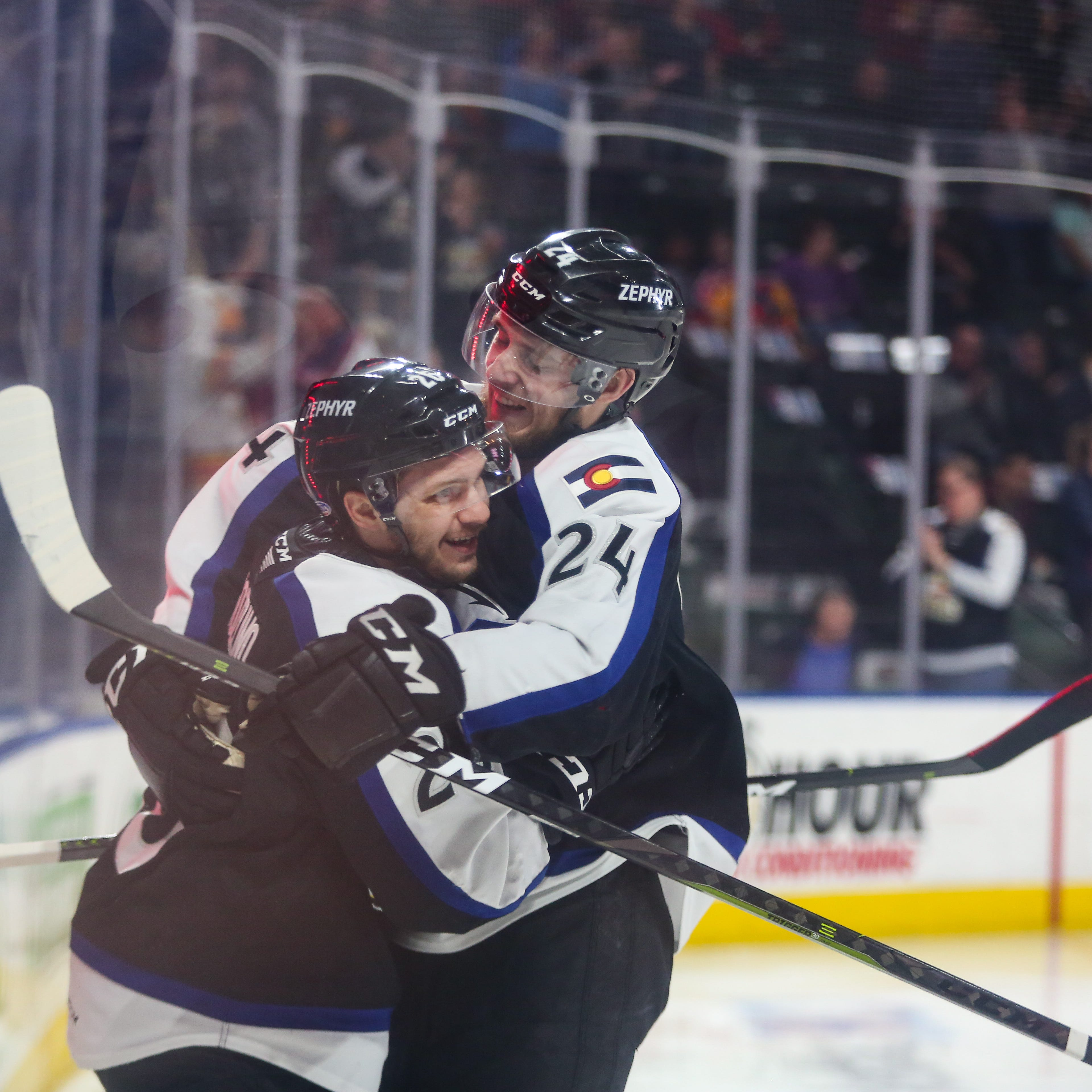 Colorado Eagles even up AHL playoff series on power of Andrew Agozzino's hat trick