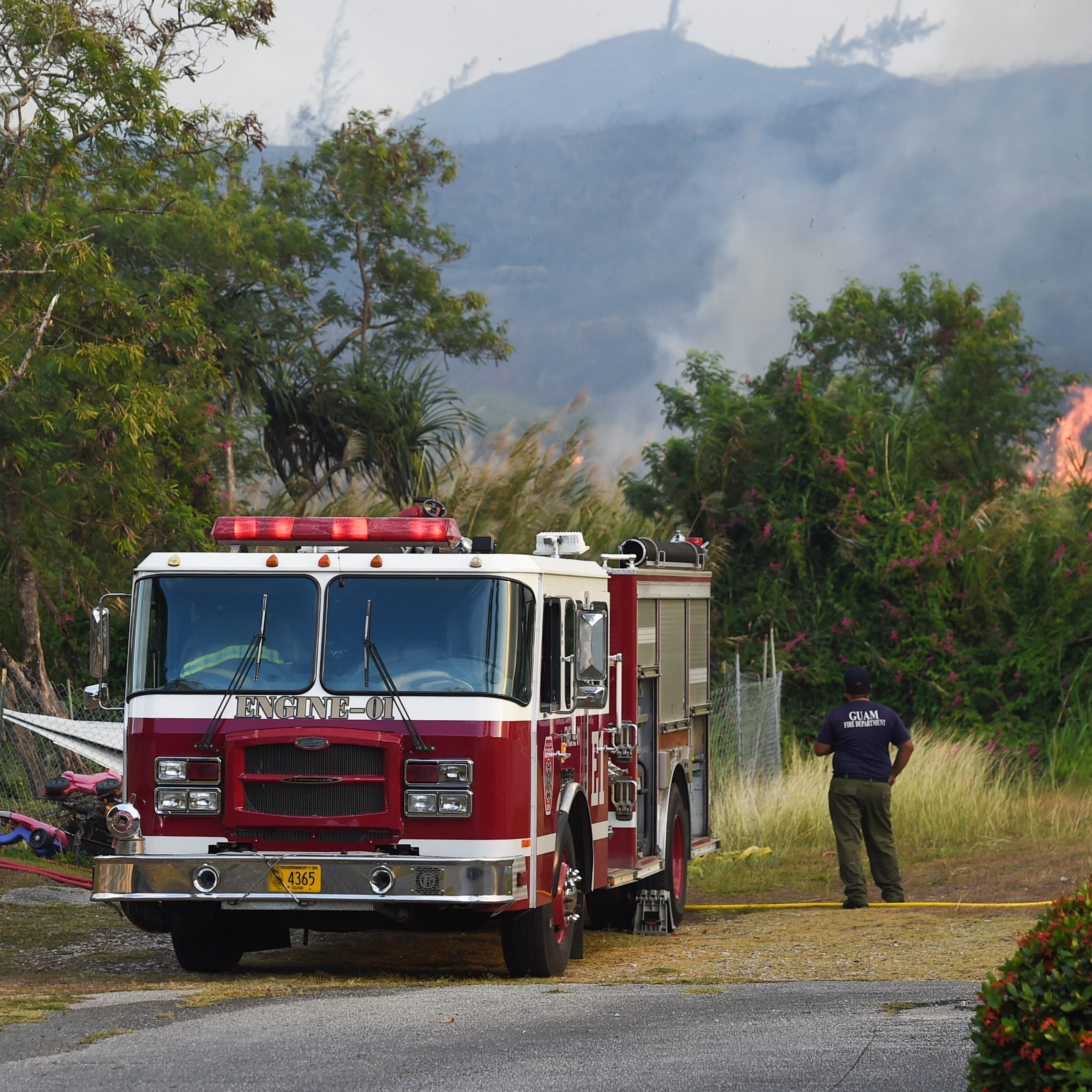 Guam Fire Department extinguishes two grass fires in Barrigada and Santa Rita