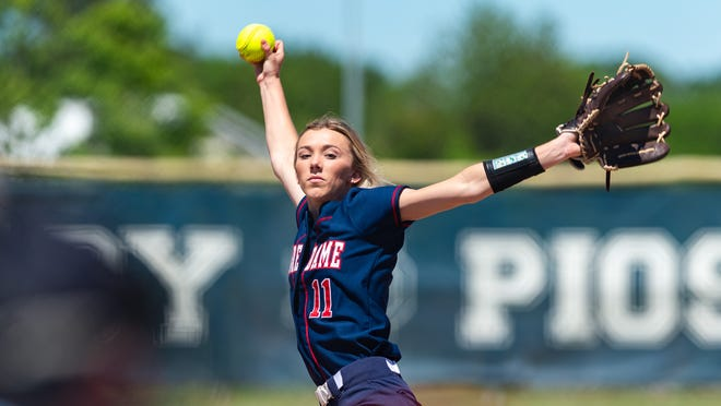 Notre Dame pitcher Sydnei Simon has been named the Outstanding Player for the Class 2A All-State softball team.