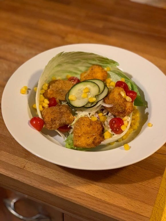 Through the power of the air fryer, Chef Anne has made a dish for the seafood po'boy lover trying to cut back on carbs and fat.