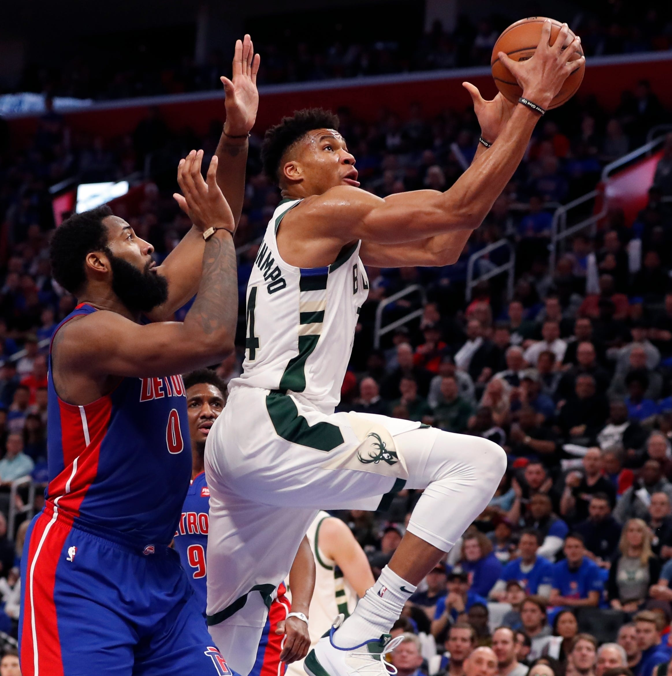 Bucks 119, Pistons 103: Bucks flex their depth, barrel toward first-round sweep