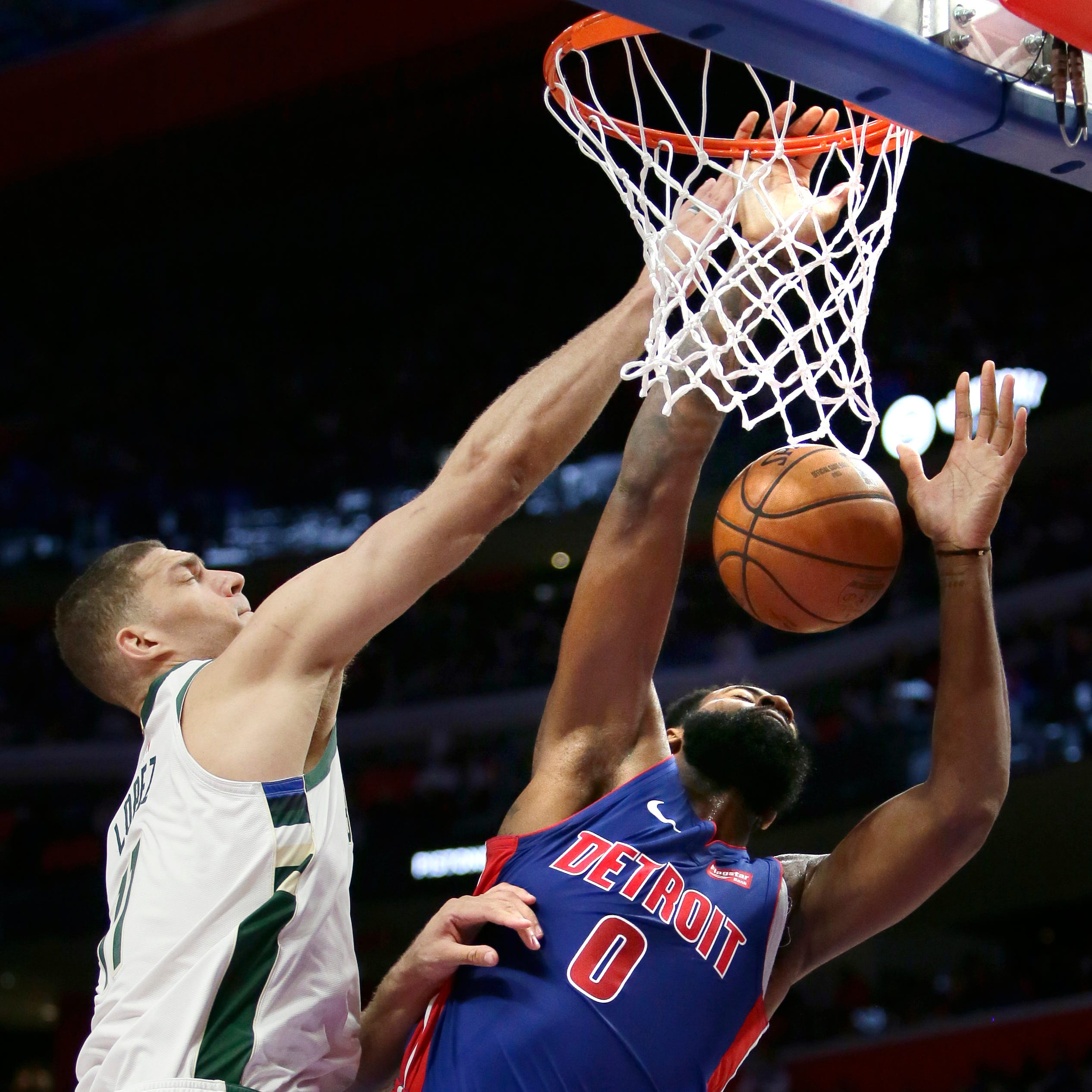 Bucks' dominance of the Pistons centers on battle of the big men