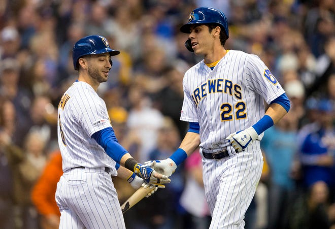 Ryan Braun, left, and Christian Yelich have partnered to help feed Milwaukee's front-line health care workers.