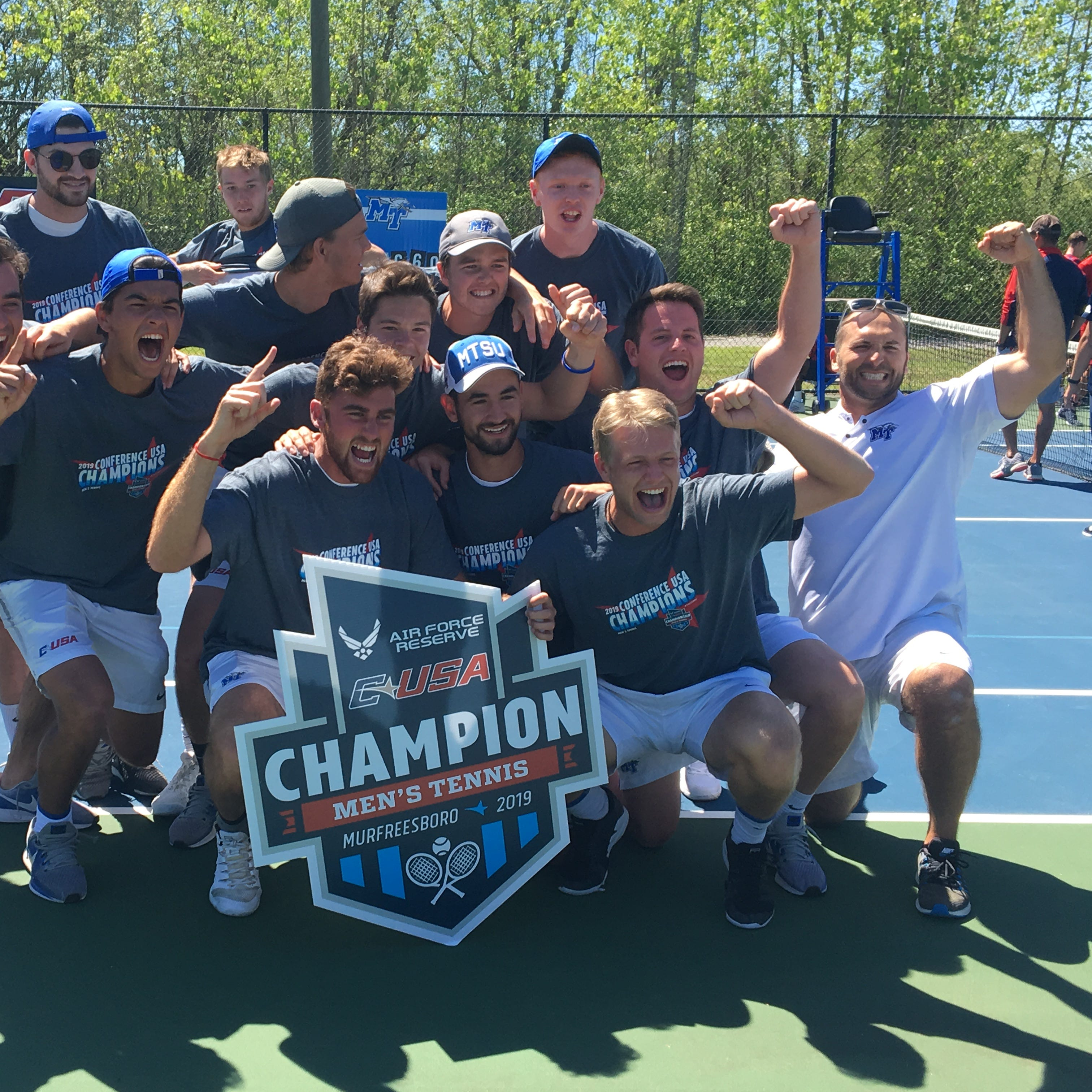 MTSU men's tennis wins Conference USA tournament title, clinches berth in NCAA Tournament