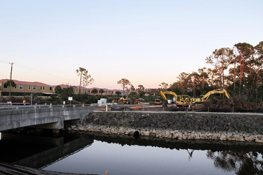 Toll Brothers broke ground this month on Abaco Pointe, a villas community in the Naples area being built east of the canal along Collier Boulevard and south of the Bristol Pines community, left.
