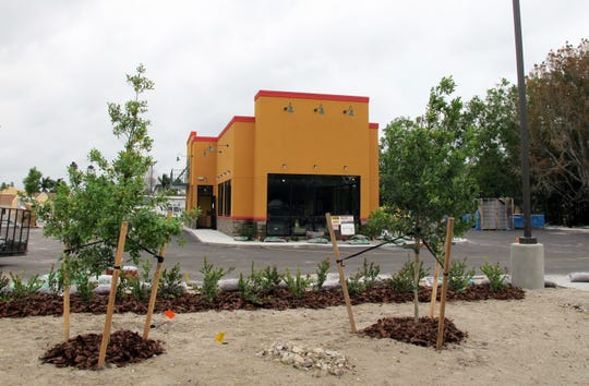 The new Popeyes drive-thru under construction at 11899 Collier Blvd. in Golden Gate is targeted to launch in mid- to late May.
