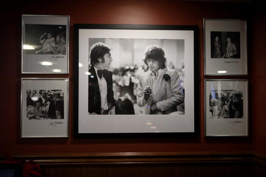 A Ron Galella photograph depicts John Lennon and Mick Jagger. Sunday, April, 21, 2019